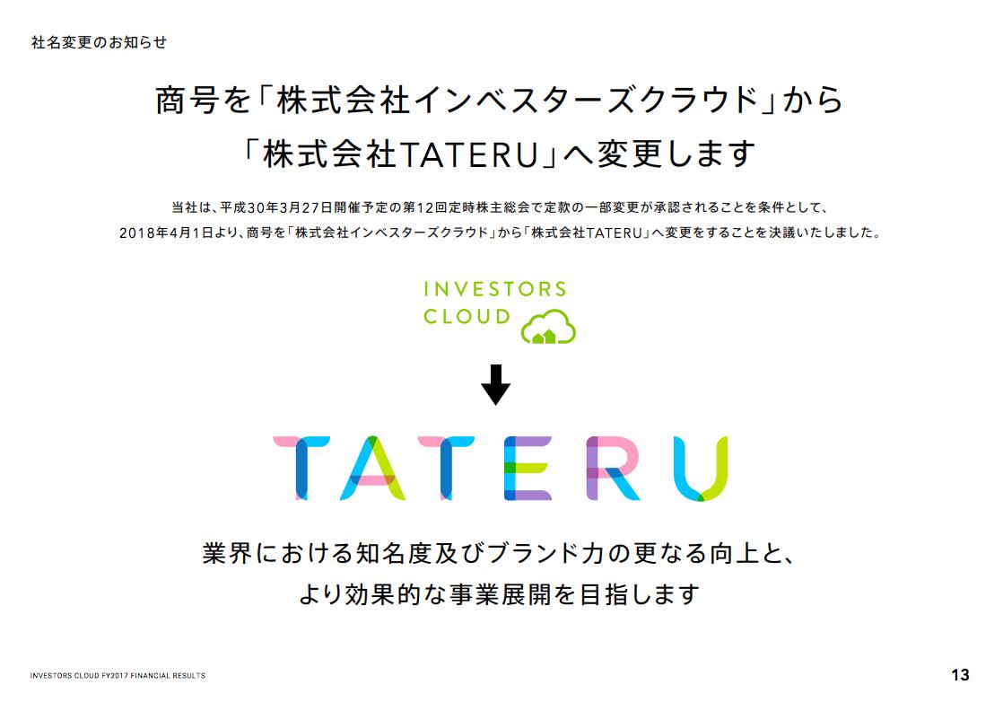 【会員数2万人突破】TATERU Fundingを運営するインベスターズクラウドの決算分析(2017年12期)